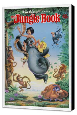 Jungle Book, The - 27 x 40 Movie Poster - Style A - Museum Wrapped Canvas