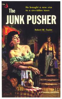 The Junk Pusher - 11 x 17 Retro Book Cover Poster