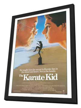 The Karate Kid - 27 x 40 Movie Poster - Style A - in Deluxe Wood Frame