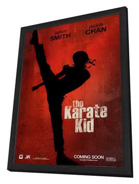 The Karate Kid - 11 x 17 Movie Poster - Style A - in Deluxe Wood Frame