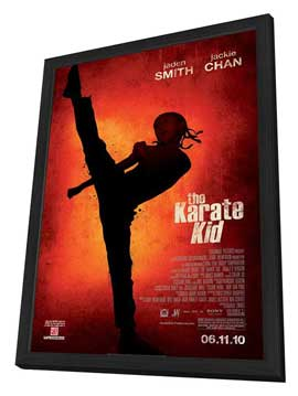 The Karate Kid - 11 x 17 Movie Poster - Style A - Double Sided - in Deluxe Wood Frame