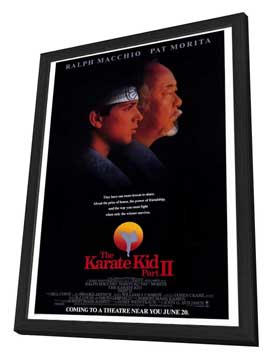 The Karate Kid: Part 2 - 27 x 40 Movie Poster - Style A - in Deluxe Wood Frame