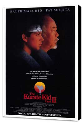 The Karate Kid: Part 2 - 27 x 40 Movie Poster - Style A - Museum Wrapped Canvas