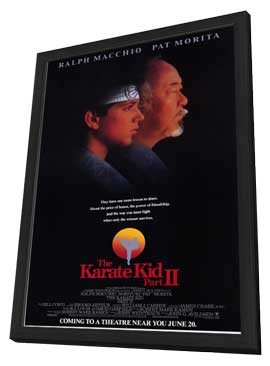 The Karate Kid: Part 2 - 11 x 17 Movie Poster - Style A - in Deluxe Wood Frame