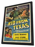 The Kid From Texas - 27 x 40 Movie Poster - Style A - in Deluxe Wood Frame