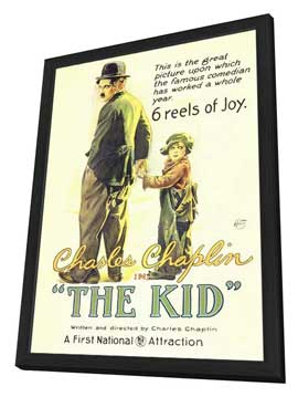The Kid - 27 x 40 Movie Poster - Style A - in Deluxe Wood Frame