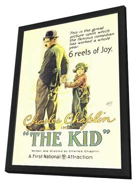 The Kid - 11 x 17 Movie Poster - Style A - in Deluxe Wood Frame