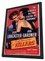 Killers, The - 11 x 17 Movie Poster - Style H - in Deluxe Wood Frame