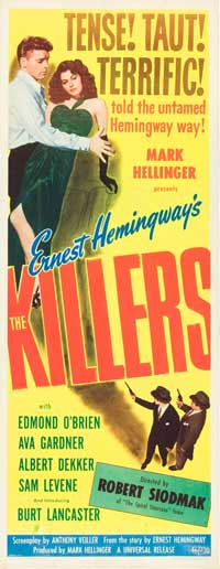 Killers, The - 14 x 36 Movie Poster - Insert Style B