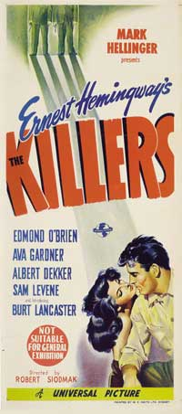 Killers, The - 11 x 17 Movie Poster - Australian Style A