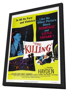 The Killing - 11 x 17 Movie Poster - Style D - in Deluxe Wood Frame