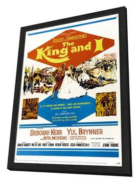 The King and I - 11 x 17 Movie Poster - Style C - in Deluxe Wood Frame