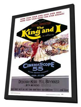 The King and I - 27 x 40 Movie Poster - Style A - in Deluxe Wood Frame
