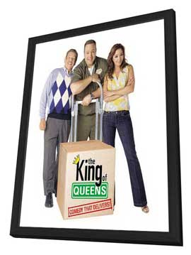 The King of Queens - 27 x 40 TV Poster - Style A - in Deluxe Wood Frame