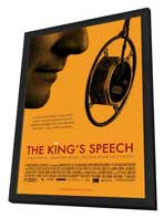 The King's Speech - 27 x 40 Movie Poster - Style B - in Deluxe Wood Frame