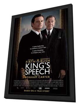The King's Speech - 11 x 17 Movie Poster - UK Style B - in Deluxe Wood Frame