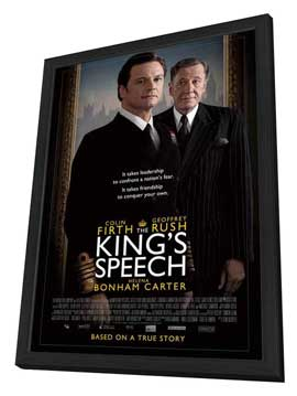 The King's Speech - 27 x 40 Movie Poster - UK Style B - in Deluxe Wood Frame