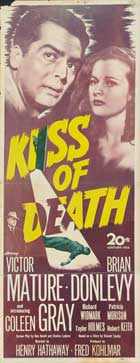 The Kiss of Death - 14 x 36 Movie Poster - Insert Style A