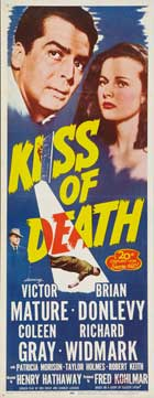 The Kiss of Death - 14 x 36 Movie Poster - Insert Style B