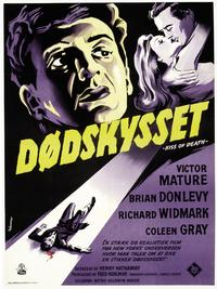 The Kiss of Death - 11 x 17 Movie Poster - Danish Style F