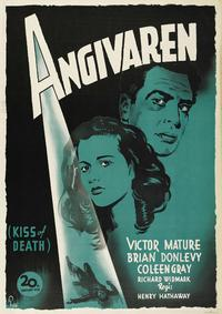 The Kiss of Death - 27 x 40 Movie Poster - Swedish Style D