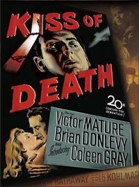 The Kiss of Death - 27 x 40 Movie Poster - Style E