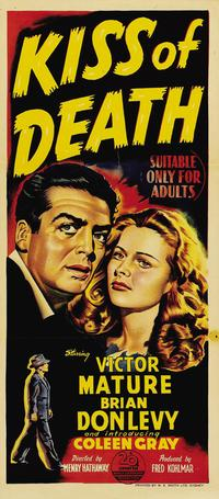 The Kiss of Death - 14 x 36 Movie Poster - Australian Style A