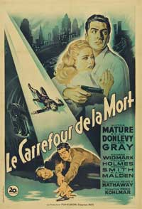The Kiss of Death - 27 x 40 Movie Poster - French Style A