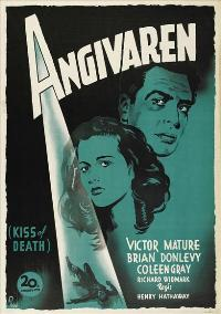 The Kiss of Death - 43 x 62 Movie Poster - Swedish Style A