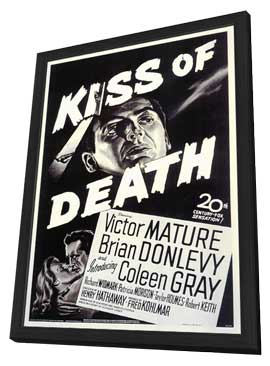 The Kiss of Death - 11 x 17 Movie Poster - Style A - in Deluxe Wood Frame