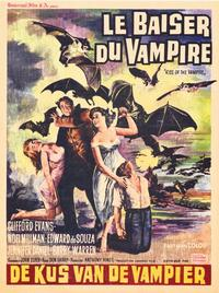 Kiss of the Vampire, The - 27 x 40 Movie Poster - Belgian Style A