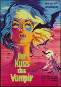 Kiss of the Vampire, The - 11 x 17 Movie Poster - German Style A