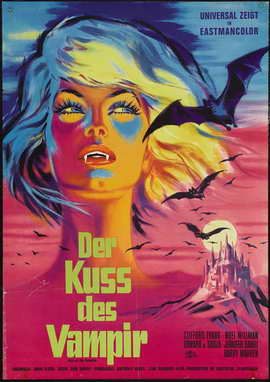 Kiss of the Vampire, The - 27 x 40 Movie Poster - German Style A