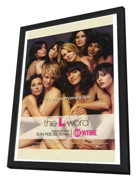 The L Word - 27 x 40 TV Poster - Style A - in Deluxe Wood Frame