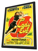 The Lady Eve - 27 x 40 Movie Poster - Style A - in Deluxe Wood Frame