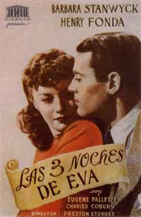 The Lady Eve - 11 x 17 Movie Poster - Spanish Style B