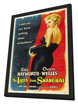 The Lady from Shanghai - 27 x 40 Movie Poster - Style B - in Deluxe Wood Frame
