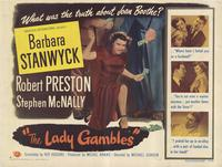 The Lady Gambles - 11 x 14 Movie Poster - Style A