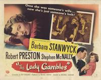 The Lady Gambles - 11 x 14 Movie Poster - Style B