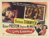 The Lady Gambles - 27 x 40 Movie Poster - Style B