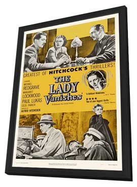 The Lady Vanishes - 27 x 40 Movie Poster - Style B - in Deluxe Wood Frame