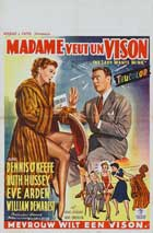 The Lady Wants Mink - 11 x 17 Movie Poster - Belgian Style A