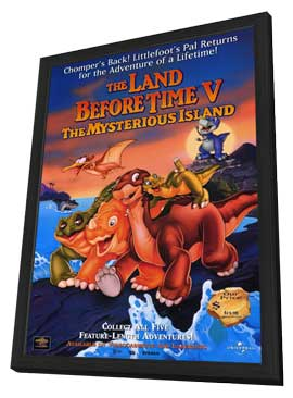 The Land Before Time V:  The Mysterious Island - 11 x 17 Movie Poster - Style A - in Deluxe Wood Frame