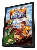 The Land Before Time - 11 x 17 Movie Poster - Style B - in Deluxe Wood Frame