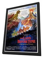 The Land Before Time - 27 x 40 Movie Poster - Style A - in Deluxe Wood Frame