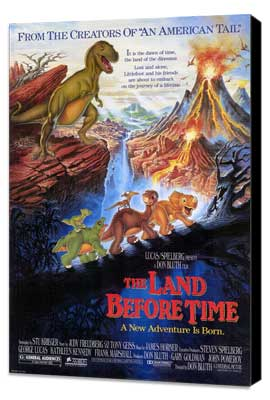 The Land Before Time - 11 x 17 Movie Poster - Style A - Museum Wrapped Canvas