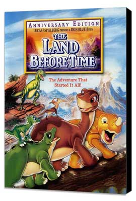 The Land Before Time - 11 x 17 Movie Poster - Style B - Museum Wrapped Canvas
