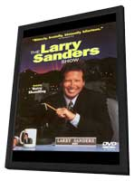 The Larry Sanders Show - 27 x 40 TV Poster - Style A - in Deluxe Wood Frame