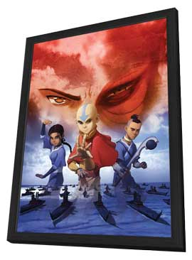 The Last Airbender - 27 x 40 Movie Poster - Style B - in Deluxe Wood Frame