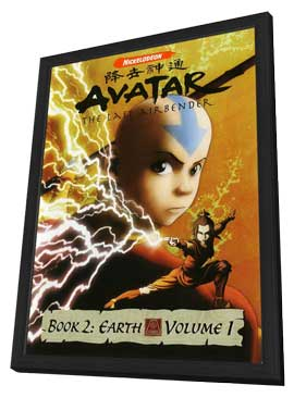 The Last Airbender - 27 x 40 TV Poster - UK Style A - in Deluxe Wood Frame